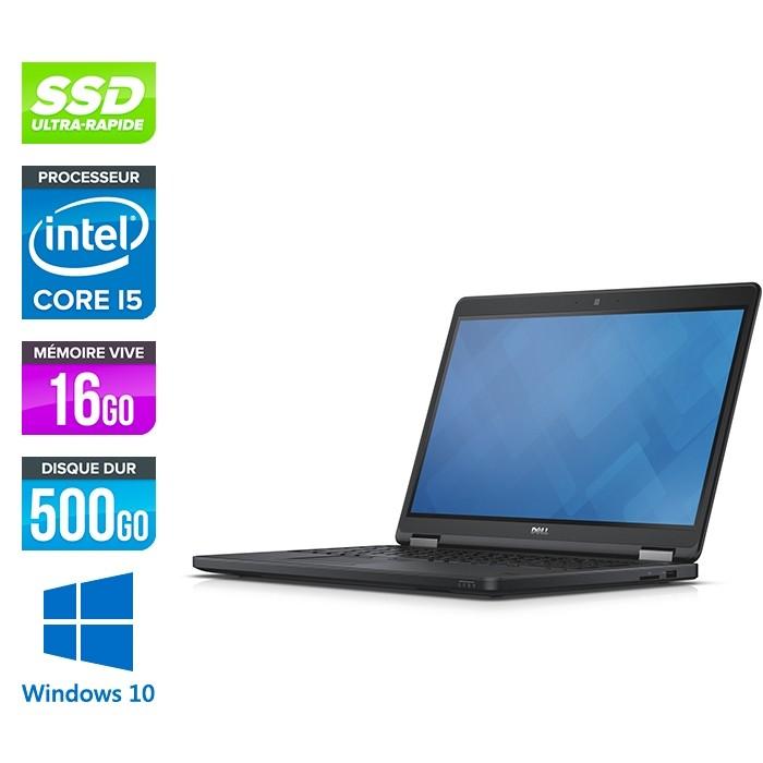 Pc portable reconditionné - Dell Latitude E5550 - i5 - 16Go - SSD 500 Go - Windows 10
