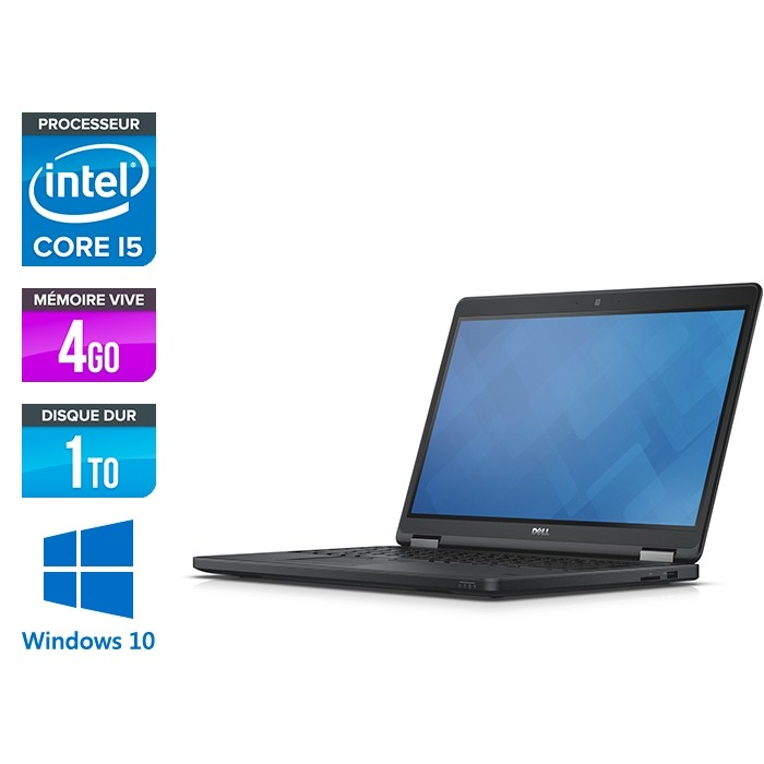 Dell Latitude E5550 - i5 - 4Go - 1To HDD - Windows 10