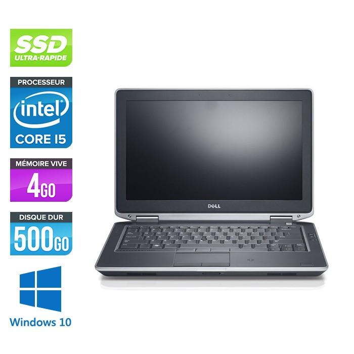 Dell Latitude E6330 - Core i5-3320M - 4Go - SSD 500Go - lecteur DVD  - windows 10