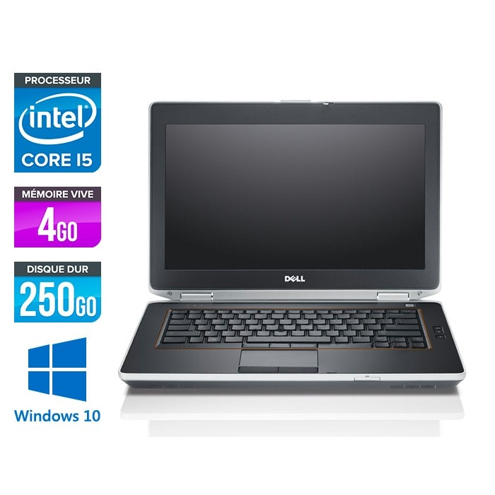 Dell Latitude E6420 - Core i5 - 4Go - 250Go - Windows 10