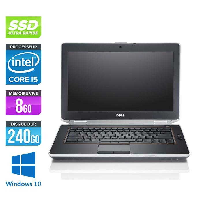Dell Latitude E6420 - i5 - 8Go - SSD 240Go - Webcam - Windows 10