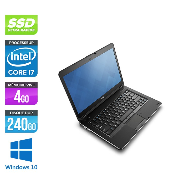 Dell Latitude E6440 - i7 - 4Go - 240Go SSD - Windows 10