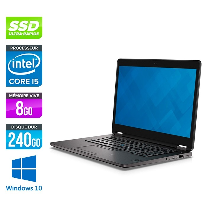 1cab865f5ec Pc portable reconditionné Dell E7470 - i5 - 8Go DDR4 - 240Go SSD ...
