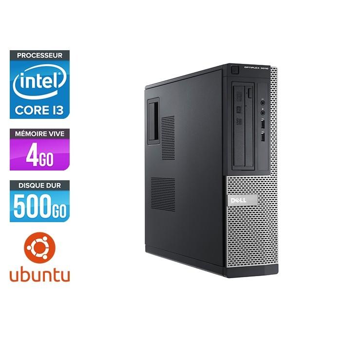 Pc de bureau reconditionné - Dell Optiplex 3010 DT - i3 - 4Go - 500Go HDD - Ubuntu / Linux