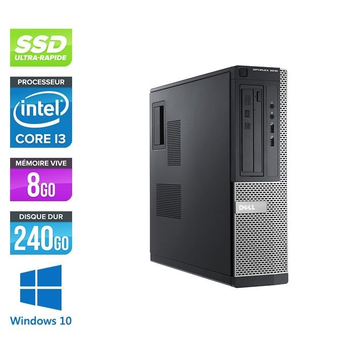 Pc de bureau reconditionné - Dell Optiplex 3010 DT - i3 - 8Go - 240Go SSD - Windows 10