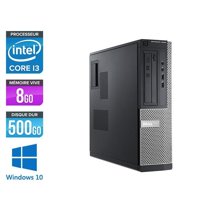 Pc de bureau reconditionné - Dell Optiplex 3010 DT - i3 - 8Go - 500Go HDD - Windows 10