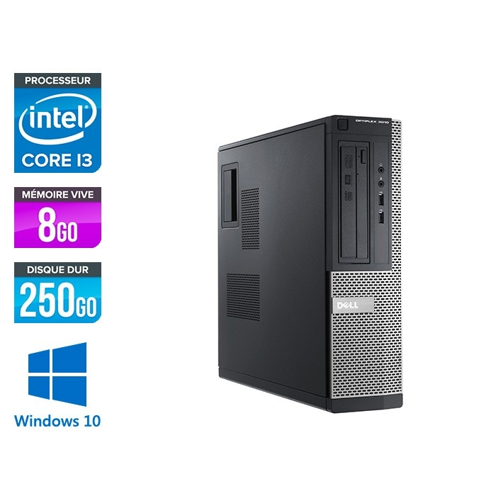 Dell Optiplex 3010 SFF - i3 - 8Go - 250Go - Windows 10 pro