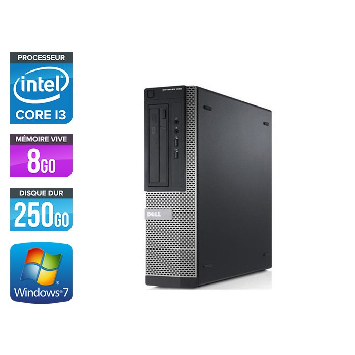 Dell Optiplex 390 Desktop - i3 - 8Go - 250 - Windows 7