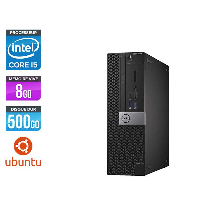 Pc de bureau Dell Optiplex 5040 SFF reconditionné - Intel core i5 - 8Go - 500Go HDD - Ubuntu / Linux