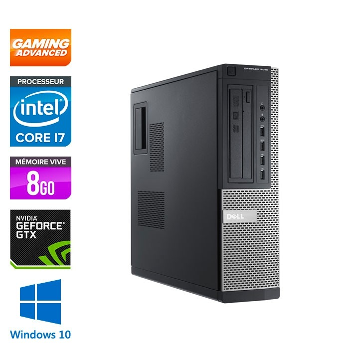 Dell 7010 DT - Gaming - i7 - 8 Go - 500Go HDD - GTX 1050 - Windows 10 PRO