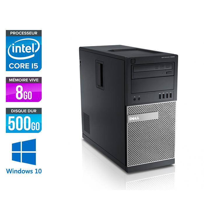 Dell Optiplex 9020 Tour - i5 - 8Go - 500Go - Windows 10 Professionnel