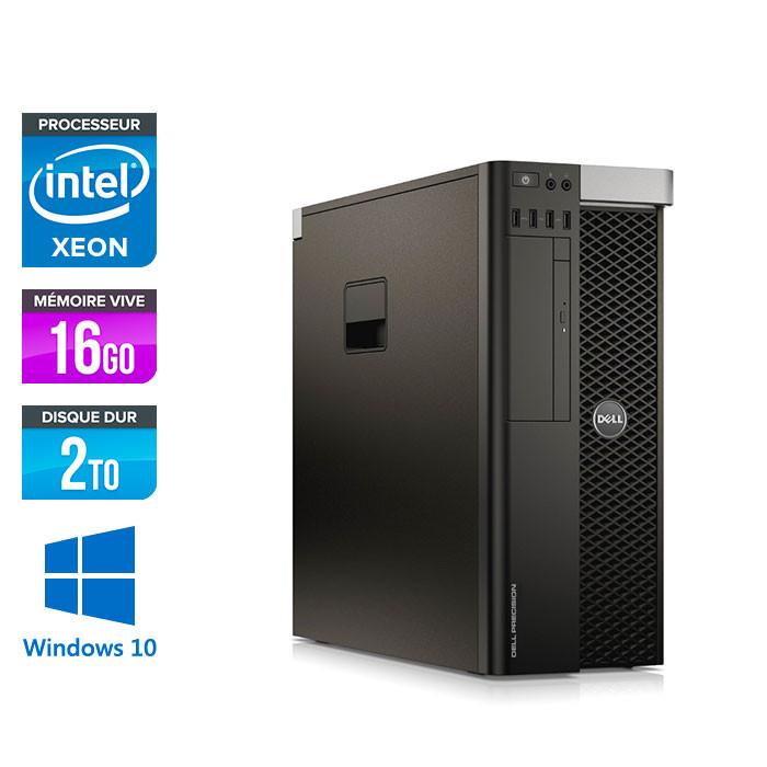 Intel Xeon E5-1620 V3 3.50GHz / 16Go DDR4 / 2To HDD / NVIDIA Quadro K4200 - 4Go GDDR5 / DVDRW / Windows 10