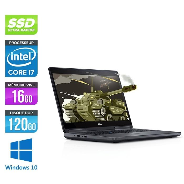 Dell Precision 7710 - i7 - 16Go - SSD 120 Go - NVIDIA Quadro M3000M - Windows 10
