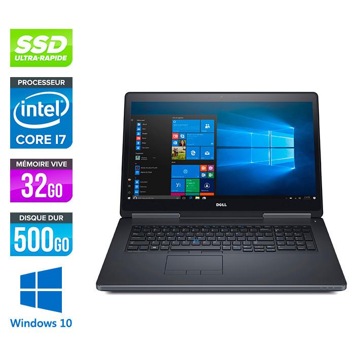 Dell Precision 7720 - i7 - 32Go - 500Go SSD - NVIDIA Quadro P3000 - Windows 10
