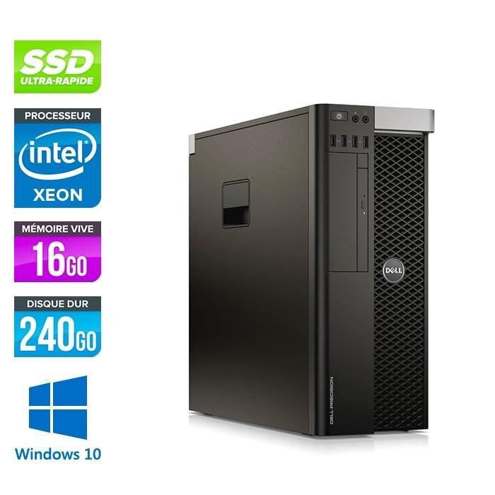 Dell T5610 - Xeon 2650 V2- 16Go - 240Go SSD - Quadro K2000 - W10