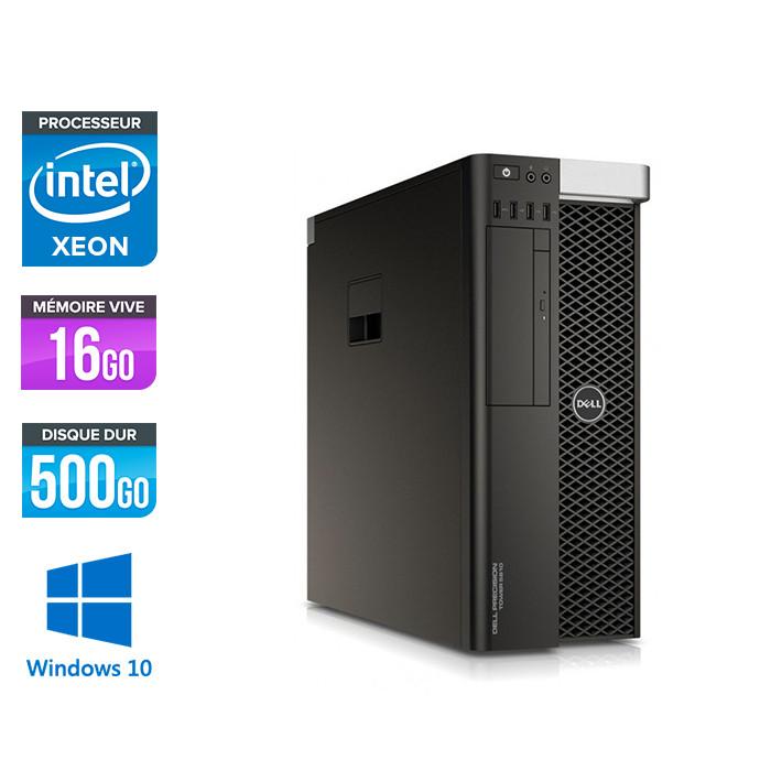 Dell T5810 - Xeon 1607 V3 - 16Go - 500go HDD -  W10