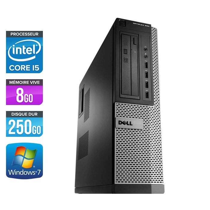 Dell Optiplex 790 Desktop - Core i5 - 8Go - 250Go