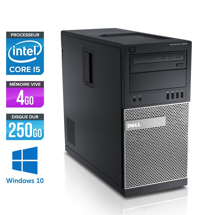 ordinateur occasion dell optiplex 990 tour core i5 4go 250go windows 10 trade discount. Black Bedroom Furniture Sets. Home Design Ideas