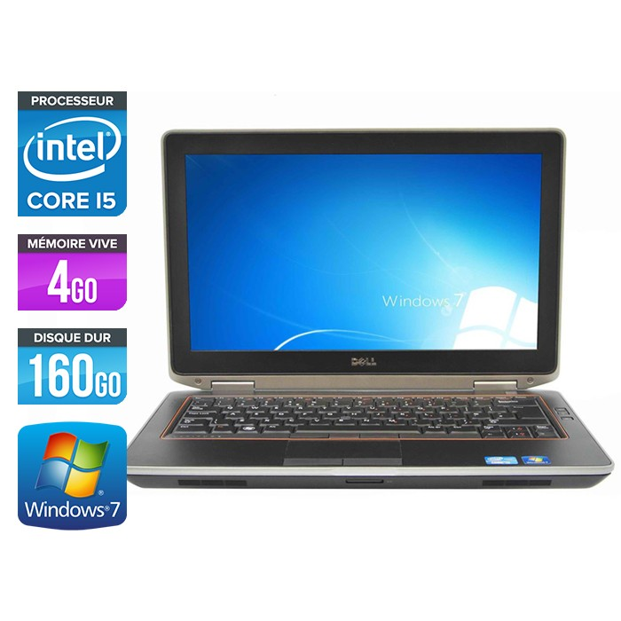 Dell Latitude E6320 - Core i5 - 4Go - 160Go - Sans lecteur optique