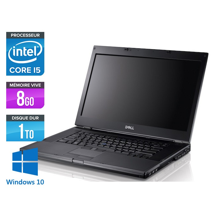 Dell Latitude E6410 - Core i5 520M - 8Go - 1To - Windows 10