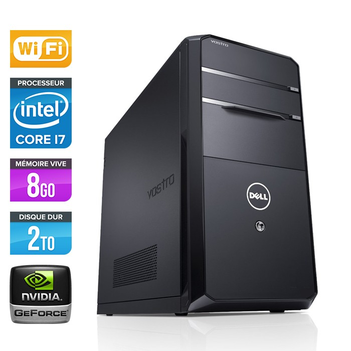 Dell Vostro 470 Tour - Core i7-3770 - 8Go - 2To - Nvidia GT620 - Wifi