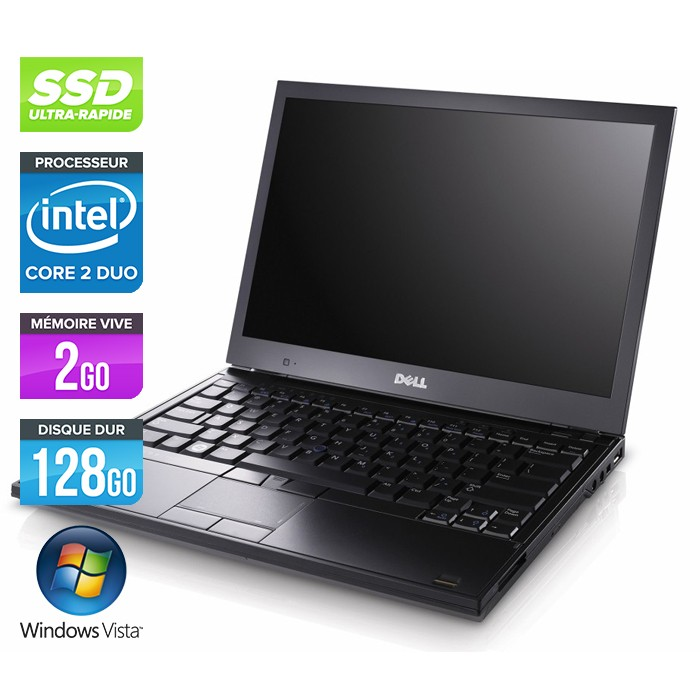 Dell Latitude E4300 - Core 2 Duo - 2Go - 128Go SSD - Vista Professionnel