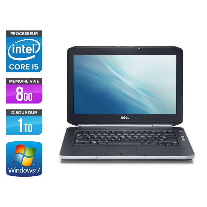 Dell Latitude E5420 - Core i5 - 8Go - 1To - Windows 7