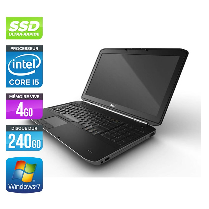 Dell Latitude E5520 - Core i5 - 4Go - 240Go SSD