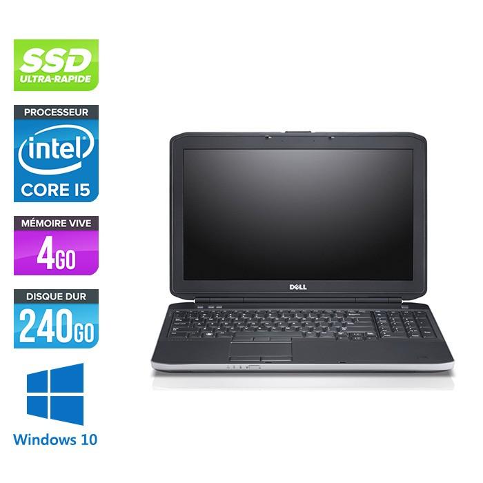 Dell E5530 - i5 - 4Go - SSD 240Go - 15.6'' - Windows 10