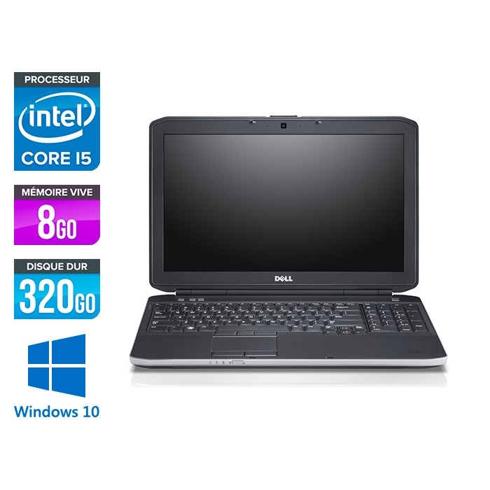 Dell E5530 - i5 3320M -  8Go - 320Go HDD - 15.6'' Full-HD - Windows 10