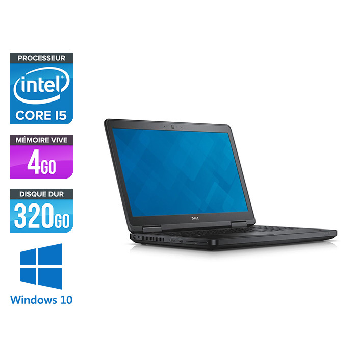 Dell Latitude E5540 - i5 - 4 Go - 320Go HDD - Windows 10