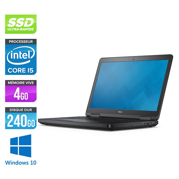 Dell Latitude E5540 - Core i5 - 4 Go - 240 Go SSD - Windows 10