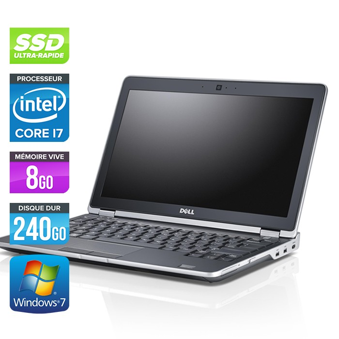Dell Latitude E6230 - Core i7 - 8Go - 240Go SSD - Webcam