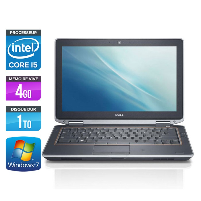 Dell Latitude E6320 - Core i5 - 4Go - 1To - Webcam