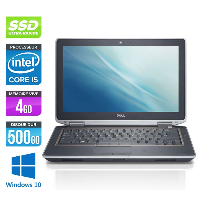 Dell Latitude E6320 - Core i5 - 4Go - 500Go SSD - Webcam - Windows 10