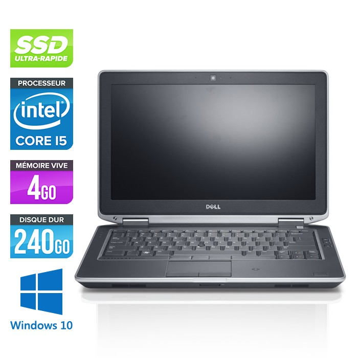 Dell Latitude E6330 - Core i5-3320M - 4Go - 240Go SSD - Windows 10