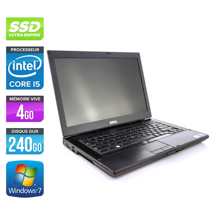 Dell Latitude E6410 - Core i5 560M - 4Go - 240Go SSD - Webcam