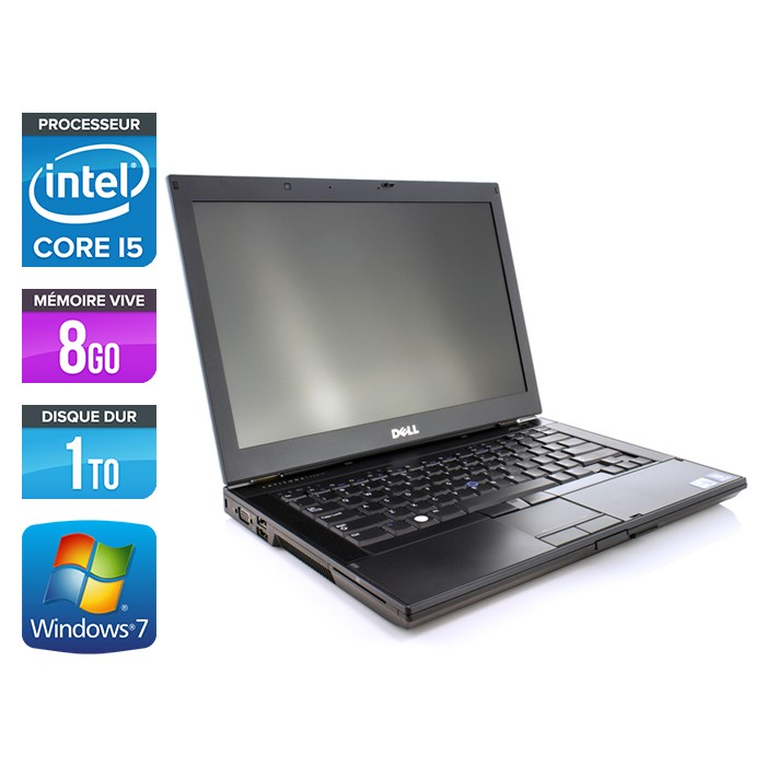 Dell Latitude E6410 - Core i5 560M - 8Go - 1To - Webcam