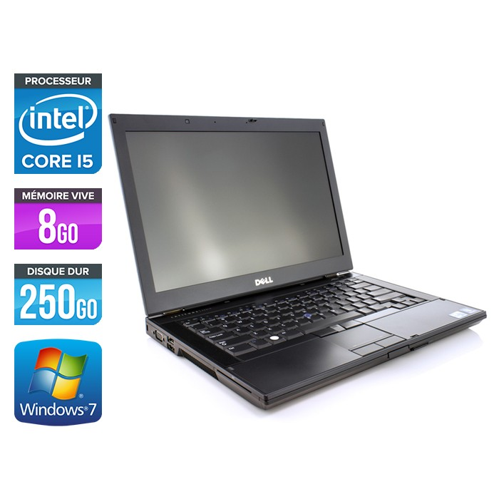 Dell Latitude E6410 - Core i5 560M - 8Go - 250Go - Webcam