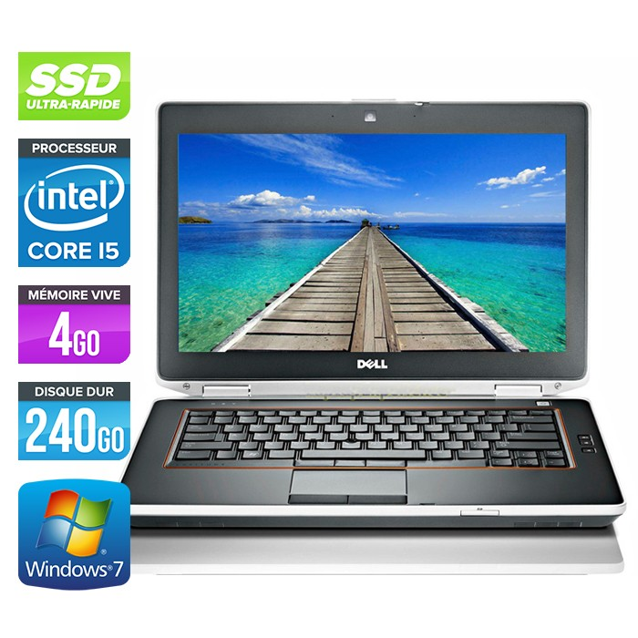 Dell Latitude E6420 - Core i5 - 4Go - 240Go SSD - Webcam