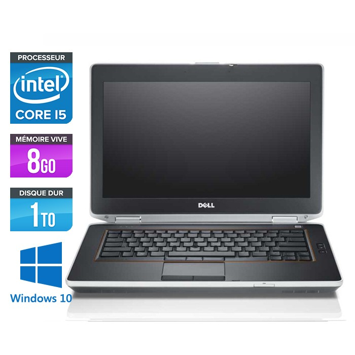 Dell Latitude E6420 - Core i5 - 8Go - 1To - Windows 10