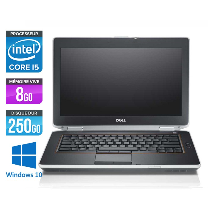 Dell Latitude E6420 - Core i5 - 8Go - 250Go - Windows 10