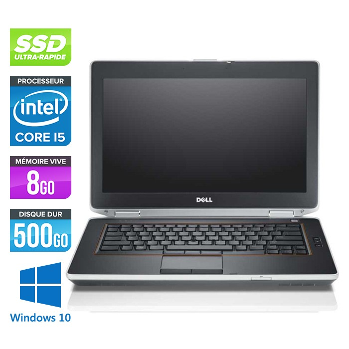 Dell Latitude E6420 - Core i5 - 8Go - 500Go SSD - Windows 10