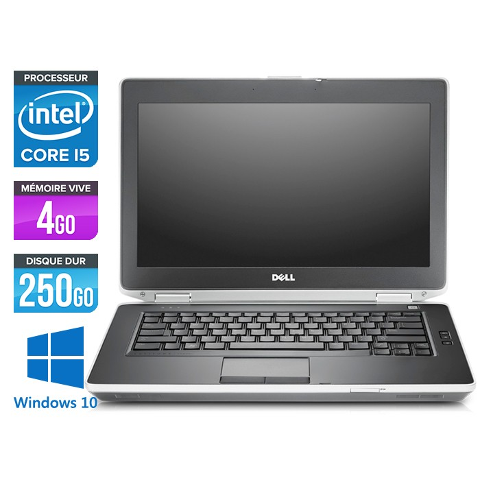 Dell Latitude E6430 - Core i5-3320M - 4Go - 250Go - Windows 10 Famille