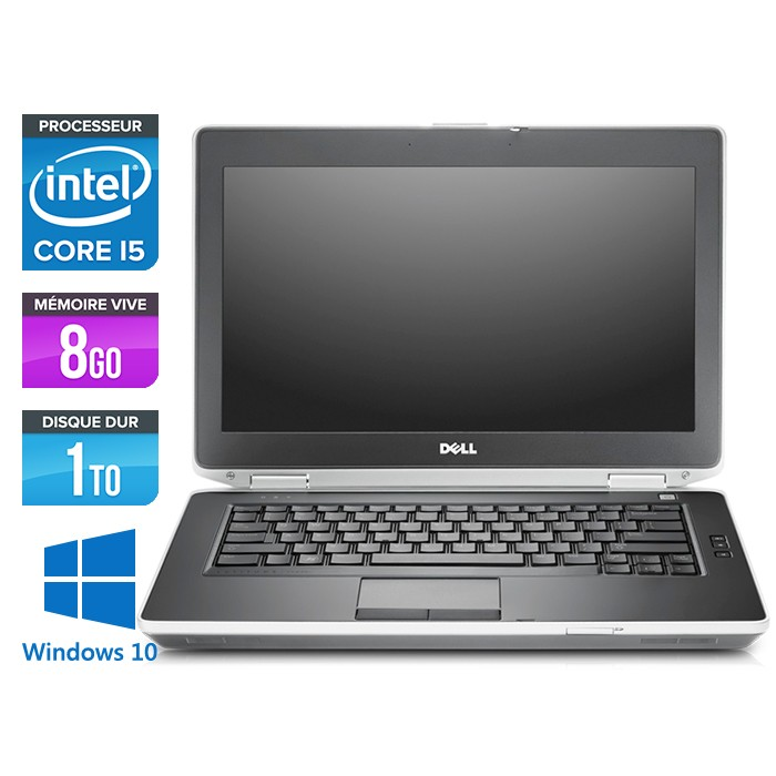 Dell Latitude E6430 - Core i5-3320M - 8Go - 1To - Windows 10