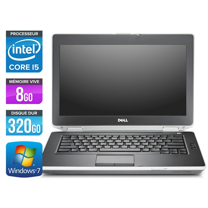 Dell Latitude E6430 - Core i5-3320M - 4Go - 320Go
