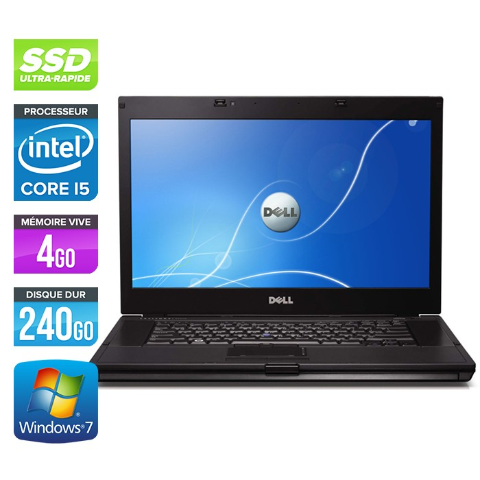 Dell Latitude E6510 - Core i5 520M - 4Go - 240Go SSD - Webcam