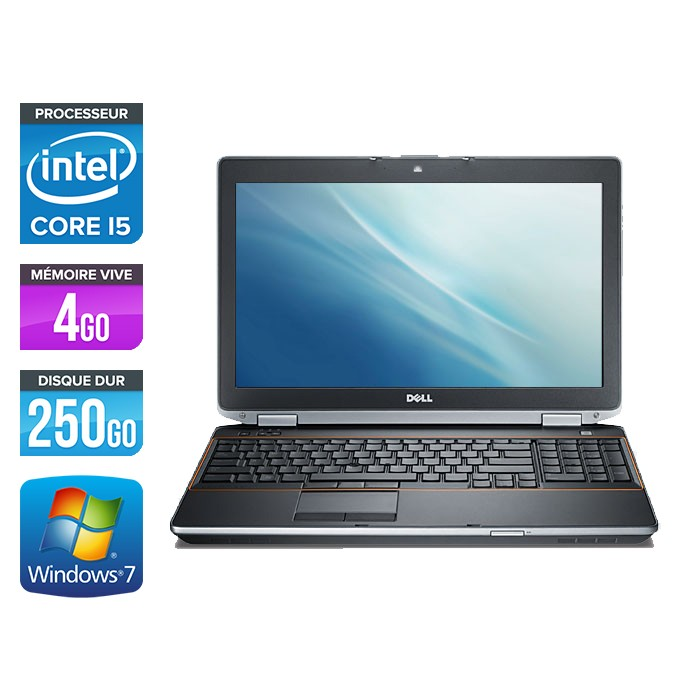Dell Latitude E6520 - Core i5 - 4Go - 250Go - Webcam