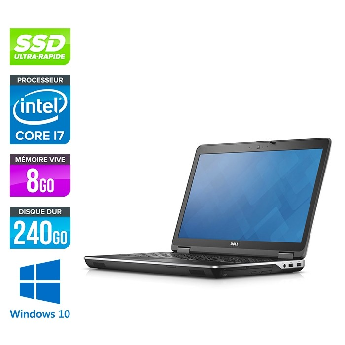 E6540 - 15.6 FHD - i7 4800MQ - 8Go - 240Go SSD - AMD Radeon HD 8790M - Windows 10 Pro