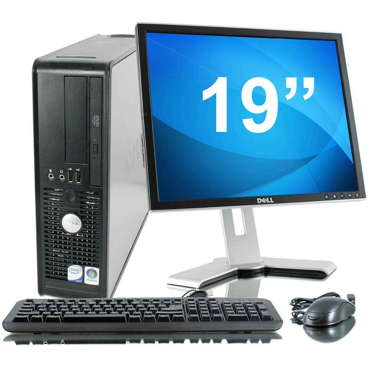PC BUREAU DELL OPTIPLEX GX755 SFF + Ecran TFT 19""